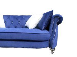 現代居間のソファーのビロードファブリックボタンのソファー
