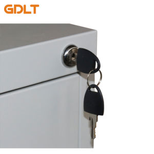 Casellario d'acciaio del cassetto delle forniture di ufficio 4 con la barra d'acciaio