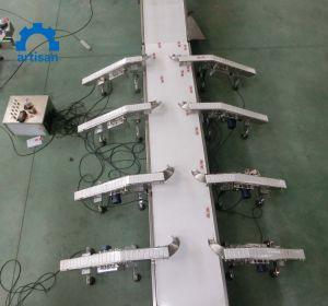 Enlace de plástico de PVC resistente al calor de la industria de bebidas/PU correa de goma Transportadora de marcha recta