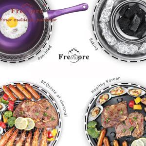 Muy nutritiva carne eléctrica de carbón de leña cocina con el ventilador
