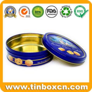 Ronda personalizada lata, Caixa de estanho, Comida Estanho, Embalagem de estanho metálico para doces, chocolates, Cookie, bolacha e snack-