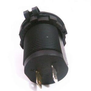 Resistente al agua DC 12-24V 3.1A USB Cargador adaptador de alimentación dual con luz indicadora LED para Alquiler de Barco Marino moto