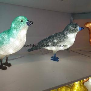 lichten van de Decoratie van 3D LEIDENE Kerstmis van de Vogel de Acryl