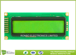 16*2文字LCD表示のStnの肯定的な穂軸のタイプデジタルモノクロLCMモジュール