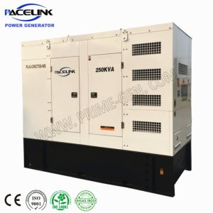 250kVA Cummins tipo dosel altamente personalizadas Powered Generador Diesel insonorizado con espacio limitado