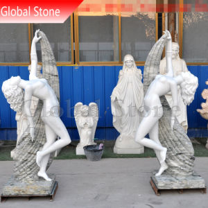 Pedra Branca personalizada dança graciosa Senhora Estátua feminina (GSS-229)