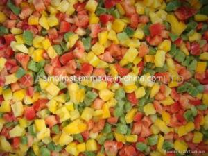 IQF gewürfelte gelbe Pfeffer, gefrorene gewürfelte gelbe Pfeffer, IQF gelbe Pfeffer würfelt, gefrorene gelbe Pfeffer würfelt, ungebleicht/etwas geblichen