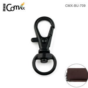Zinc noir Allly Key Ring le clip métallique de 9 mm Snap crochet Buckel pivotant pour courroies Valises et sacs