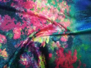Geen Stof van de Zijde van de Polyester van de Douane van de Kleding van de Kimono MOQ Digitale Afgedrukte