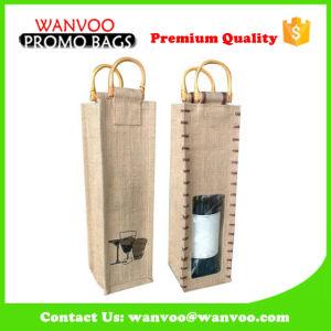 Sacchetto disponibile non tessuto della bottiglia di vino di stile del Drawstring o della maniglia del materiale del velluto del nylon della iuta per Gift&Packing