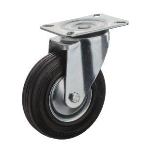 Se venden de caucho negro con ruedas Industriales del Centro de acero
