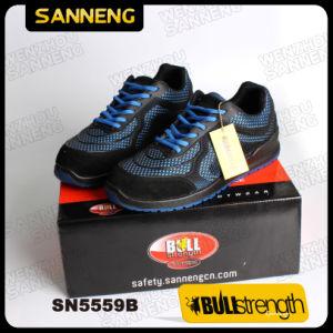 Entrenador Kpu azul Zapatos de seguridad con S1p Src