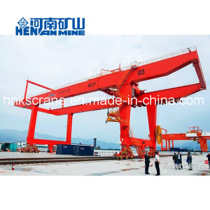 Rmg 50 toneladas de montaje en carril de 40 toneladas de contenedor viga doble grúa de pórtico