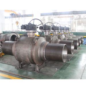 Valvola a sfera industriale completamente saldata del acciaio al carbonio