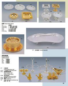 رفاهية نوع ذهب وفضة أداة مائدة لأنّ فندق مأدبة ([إكسوف22-2])