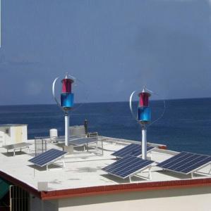 Sinus 600W 24V vertikaler Mittellinien-Wind-Turbine