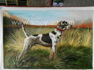 ホーム装飾のためのハンドメイドの猟犬の油絵