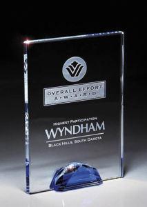 Nuevo premio de cristal de la moda con 3D Laser