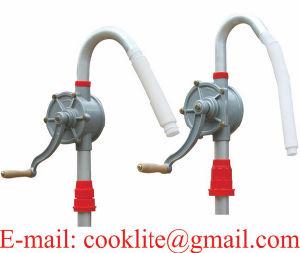 Pompa a mano di alluminio manuale rotativa di trasferimento di combustibile della pompa del timpano