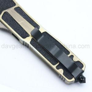 La FTO 5 pouces de la série automatique des couteaux fermée avec lame en acier inoxydable 420 et poignée en alliage de zinc pour le combat