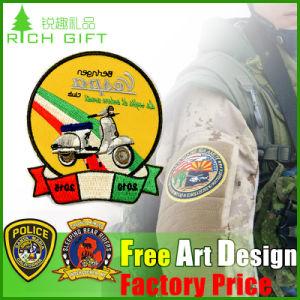 Insegne/distintivo del ricamo tessute abitudine di vendite della fabbrica per l'uniforme scolastico
