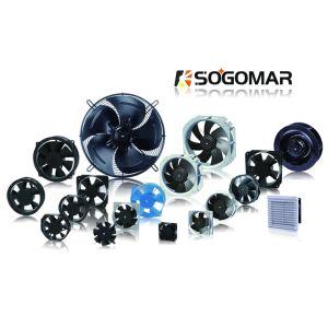 172x150x51mm 220VAC Ventilador Axial de panel con rodamiento de bolas para la ventilación de refrigeración