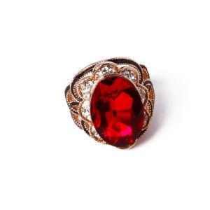Rose jóias de ouro com vidro e Rhinestones