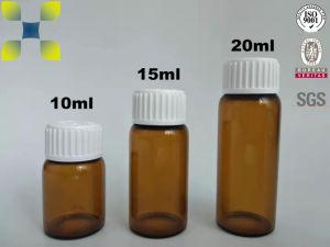 A estrutura tubular da cal sodada garrafa de vidro para líquido oral Use 10ml