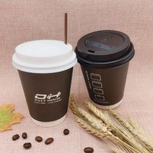 tazze di caffè di carta calde doppie a gettare 4oz/8oz/12oz/16oz/20oz con i coperchi