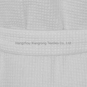 65 % 35 % de polyester coton tissu gaufré col châle hôtel Peignoir de bain