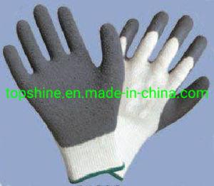 Barata de hilo blanco Guantes con recubrimiento de nitrilo gris