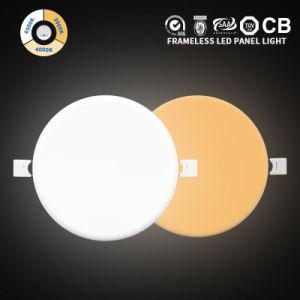 Projetado Especificamente sem caixilho Surface Mounted IP44 18 Watt Round LED da Lâmpada do Painel da Luz de tecto 18W com 2835 SMD