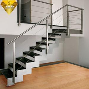 En El Interior De Acero Inoxidable Con Acabado Satinado Barandillas - Barandillas-para-escaleras-interiores