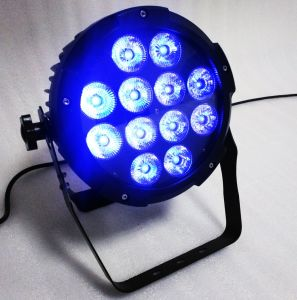 Stage Wash Lightのための屋内DMX Flat LED PAR Light 12*18W Rgbwauv