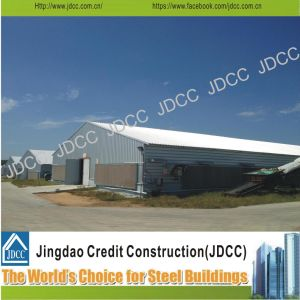 La luz de la construcción de la estructura de acero galvanizado para la granja avícola