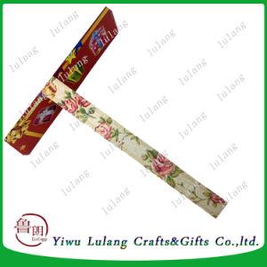 로즈 꽃 리본 롤 선물 감싸기 인쇄하는 면과 리넨 리본