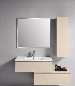 Zusammengesetzte Melamin-Badezimmer-Möbel mit seitlicher Eitelkeit im Badezimmer