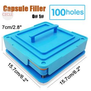 100 trous de remplissage de la gélule 00 n° 0 n° 1# Capsule outil Plaque de machines de remplissage de classe alimentaire