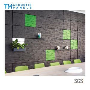 La preuve de l'eau absorbant le son 3D du panneau en fibre de polyester Panneau mural décoratif pour Office