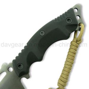 Bravedge 9,8 pouces dans l'ensemble plein Tang Couteau à lame fixe Killer Whale avec lame en acier inoxydable 440 et de nylon pour l'extérieur de la poignée de fibre de verre de camping et de survie.