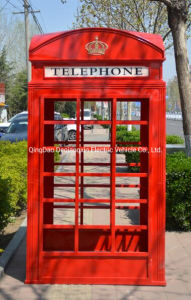 UK Retro público exterior de Vidro Antigo Blue cabine telefônica