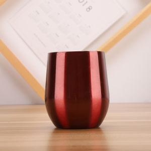 9oz 12oz 16oz double paroi en acier inoxydable réutilisables isolé de l'oeuf de métal Wine Tumbler tasses avec couvercles tasse de café