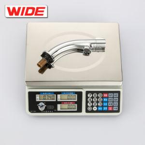 現代シンプルな設計の銅の洗面器水蛇口、流線形デザイン熱く、冷たい洗面台の水栓のミキサー中国