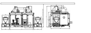 Automatisches Chemical Drum Cleaning und Drying Machinery mit Two Cavities