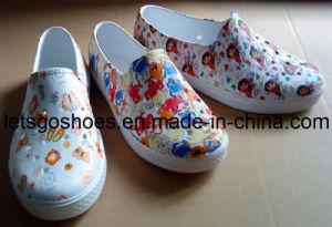 Jardin de la femme Chaussures avec l'impression (21ZZ1044)