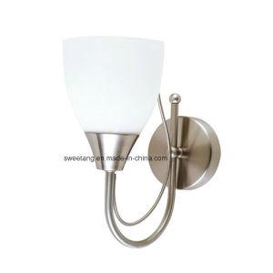 Luminária de parede simples com vidro branco sombra para iluminação interior
