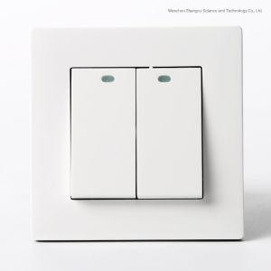 British 10una placa de metal Interruptor de pared de 2 módulos