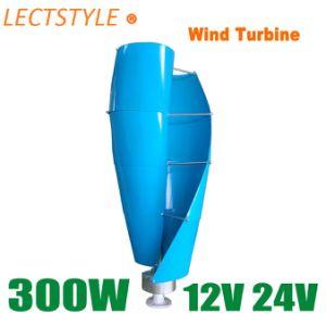 12V DC 24V 300W generador eólico de eje vertical se utiliza para el hogar/barco/calle