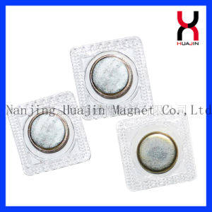 Coser el botón de imán de neodimio invisible para la ropa