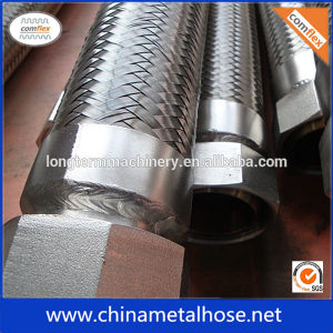 ステンレス鋼のホースのニップルが付いているステンレス鋼の軟らかな金属のホース